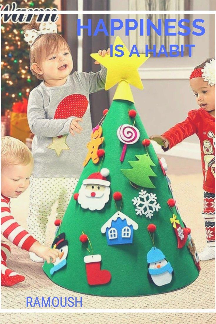 Diy Christmas Tree For Kids Toddler Felt Playtime Xmas Decor Children Cone Gift Christmas Diy Christmastree Kids Holiday Lovely Holiday Decor Christmas Trees For Kids Christmas Diy Diy Christmas Tree