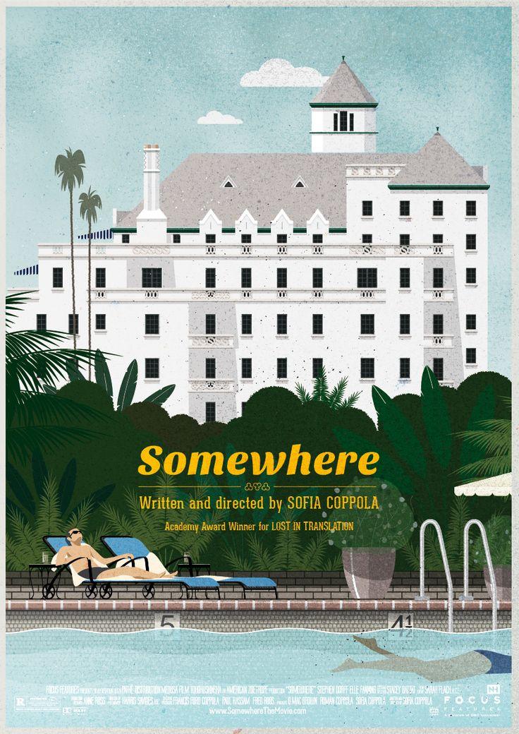 A l'occasion du festival de Cannes et du nouveau film de Sofia Coppola, j'ai réalisé ce remake fanart de l'affiche de son film précédent, Somewhere.