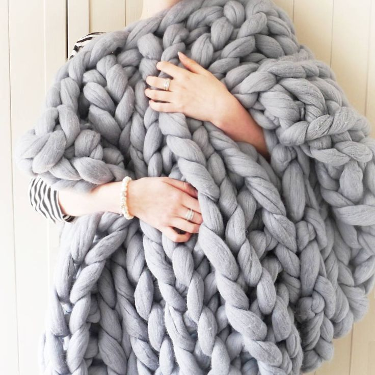 Knitting Pattern For Super Chunky Throw : 1000+ ideas about Chunky Knit Blankets on Pinterest Blankets, Chunky blanke...