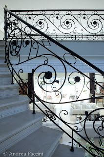 Meister Design: Guarda corpo com corrimão em ferro (aço carbono) pintado - Residência Rosângela Delara