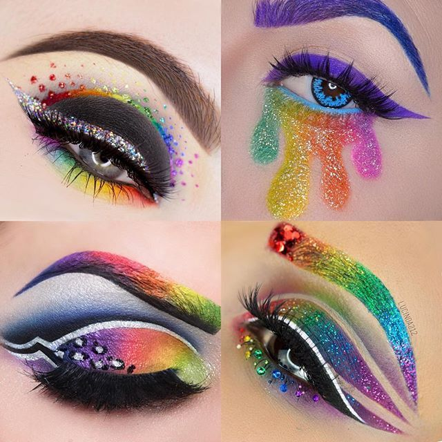 Woooooohooo!! Sooo... I had the absolute pleasure and honor of doing a collab with some of my most fav artists here on IG. We did a rainbow themed collab. I really have been excited to post this! If you aren't following these extraordinary artists, you 100% need to go and check them out!! Top left: @beautybypaisley  Bottom left: @myth_cosmetics  Top Right: /andeedoll/  Bottom Right: Me   Thank you to these beauties for doing this collab with me!! ✨✨✨