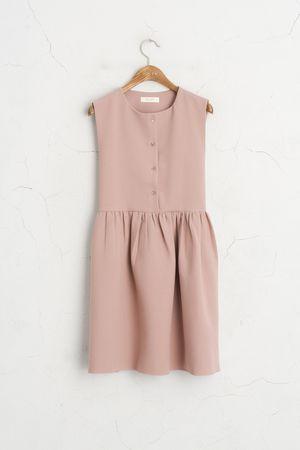 Button Down Sleeveless Dress, Pink