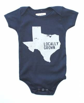 Baby one-piece in super soft 100% cotton. Made in the USA.