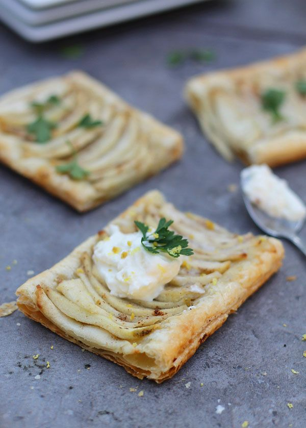 Brown Butter Apple Tarts with Cinnamon Whipped Cream and Brandy ...