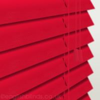 Luxury Gloss Red Wooden Blinds, 50mm Made to Measure