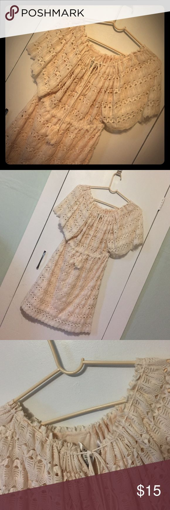 Crochet Dress Country chic! Cute dress for a night out, summer, or a Jean Jacket with leggings! Max Studio Dresses Maxi