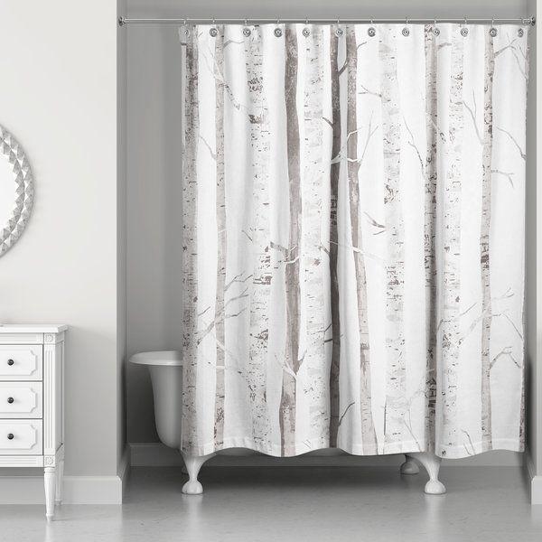 Bain Birch Trees Single Shower Curtain Tree Shower Curtains