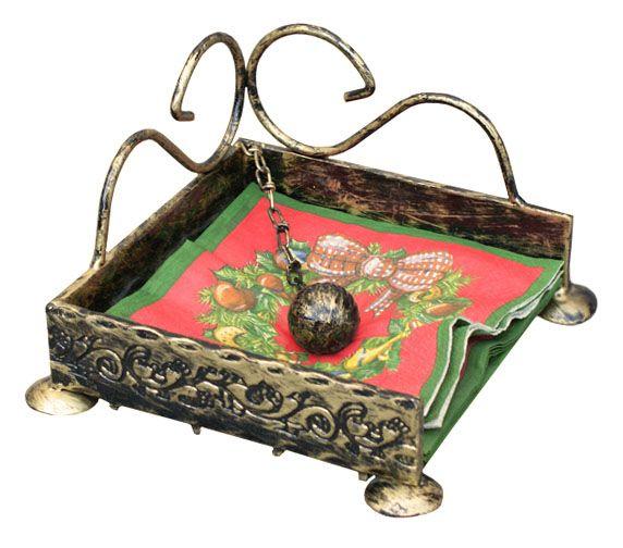 Serwetnik metalowy z kulą ozdoba kuty metal PL (5922365340) - Allegro.pl - Więcej niż aukcje.
