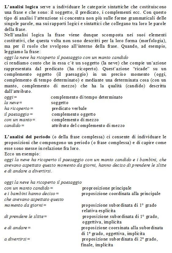 Grammatica italiana-l'analisi logica-l'analisi del periodo-