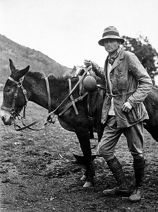 Hiram Bingham, The real Indiana Jones, 1911. Hiram Bingham (1875–1956) was an American academic, explorer and treasure hunter and politician. He had a B.A. from Yale and a PhD from Harvard. He was not a trained archaeologist, yet it was during his time as a lecturer – later professor – at Yale that he discovered the Inca city of Machu Picchu.