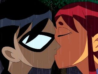 Teen Titans Starfire and Robin Kissing | Teen Titans: Trouble in Tokyo - Teen Titans Wiki - Robin, Starfire ...