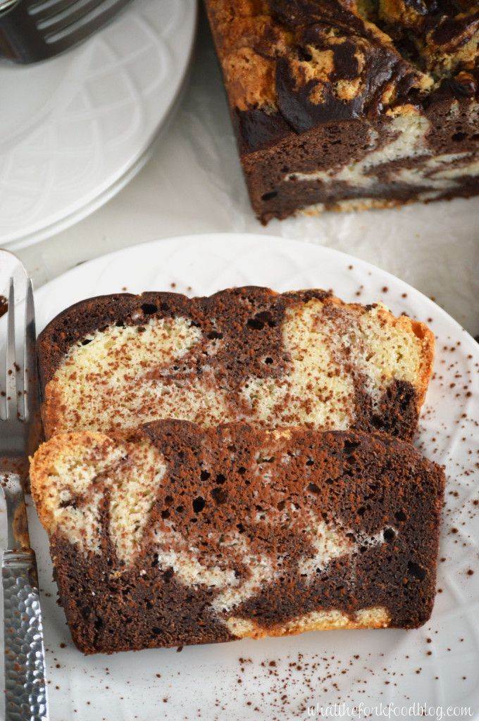 Marble Pound Cake  from What The Fork Food Blog - gluten free