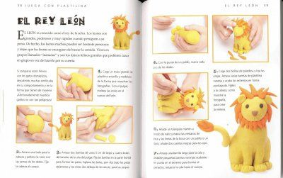 Modelar plastilina - león