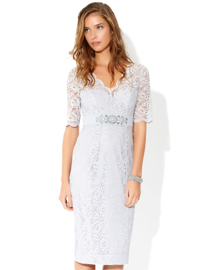Monsoon marie lace and jacquard dress