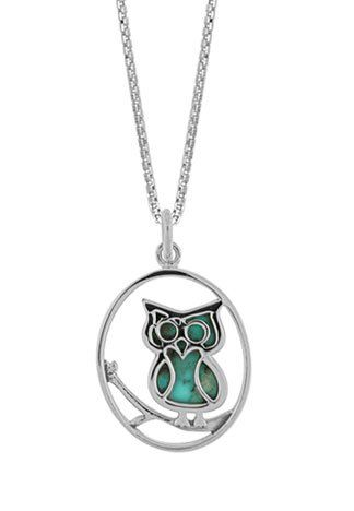 Boma Sterling Silver Turquoise Owl Necklace, 16 inches Boma Jewelry,http://www.amazon.com/dp/B002VBAOHA/ref=cm_sw_r_pi_dp_JFUDsb1JEVS5EHK2