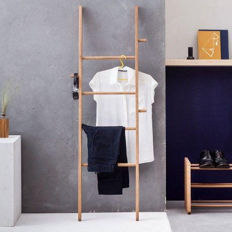 Clothes Ladder 1 - Dark Oak - alt_image_two