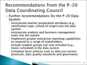 HSLDA - Will Common Core & the State Longitudinal Data Tracking / P20 impact homeschools and private schools?  NO For now, the Common Core applies only to public schools in the states that have adopted it. Federal law, under 20 U.S.C. § 7886, prohibits any federal education mandates from applying to private schools that do not receive federal funds or homeschools. (Therefore, Private School Protects Children's Privacy & Child/Parental Rights)