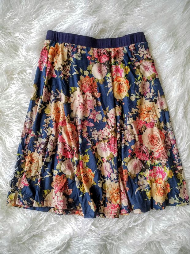 Le Lis Alice Printed Faux Suede Swing Skirt Stitch Fix