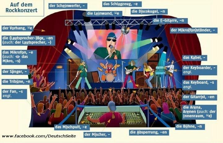 Auf dem rockkonzert