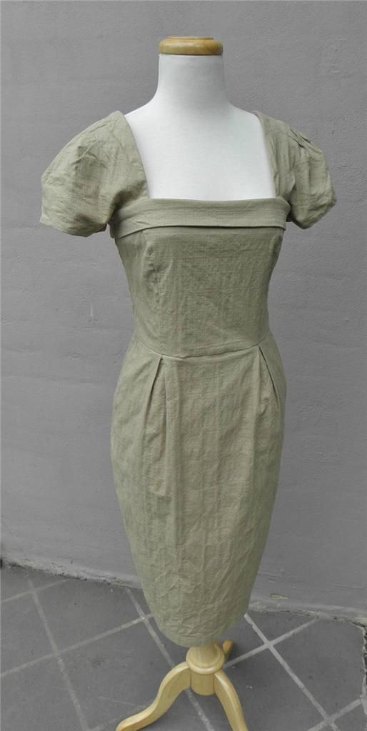CUE Elegant Sand Yellow Cotton Dress 8 Work or Play