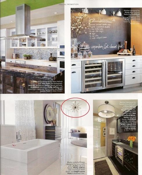 Elle Decor April 2012 pg. 127  Solaria Bubbles Ceiling Fixture