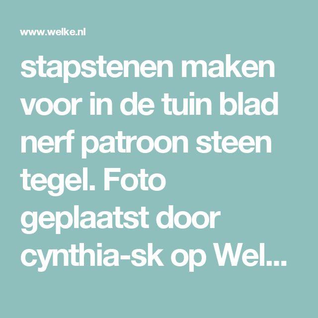 stapstenen maken voor in de tuin blad nerf patroon steen tegel. Foto geplaatst door cynthia-sk op Welke.nl