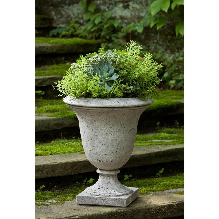 Exceptional Campania International Linwood Cast Stone Urn Planter. Outdoor ...