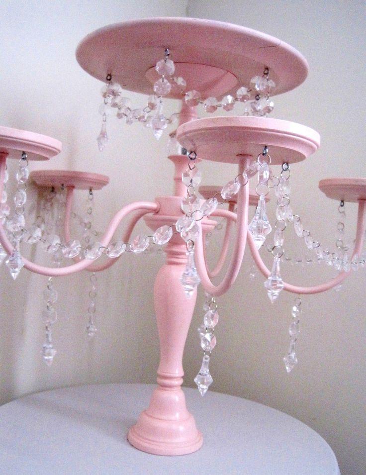 cake and cupcake displays | Crystal Chandelier Cake and Cupcake Stand by ShabulousChandeliers