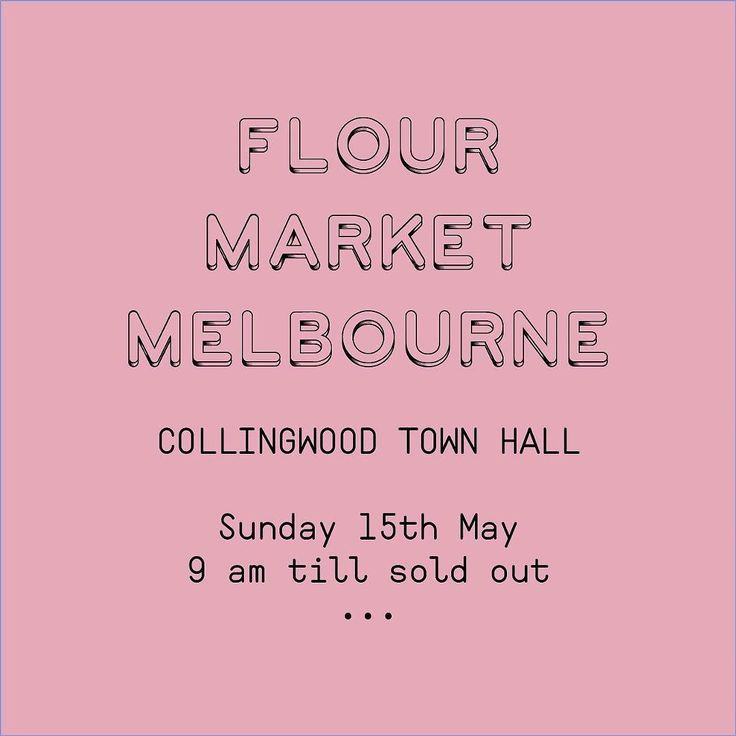 Tomorrow morning Melbourne! So excited to see you all