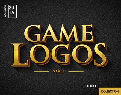 다음 @Behance 프로젝트 확인: \u201cGame Logos\u201d https://www.behance.net/gallery/49069859/Game-Logos