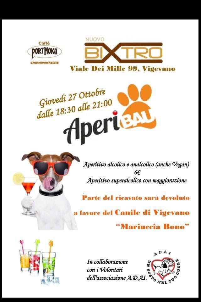 """AperiBAU al Bixtro per il canile di Vigevano """"Mariuccia Bono"""" :http://www.qualazampa.news/event/aperibau-al-bixtro-per-il-canile-di-vigevano-mariuccia-bono/"""