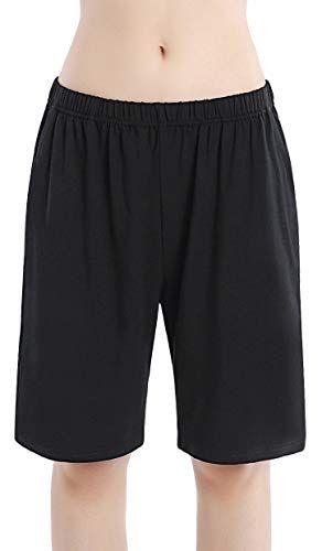92647512766 HBY Women s Soft Sleep Pajama Shorts Black