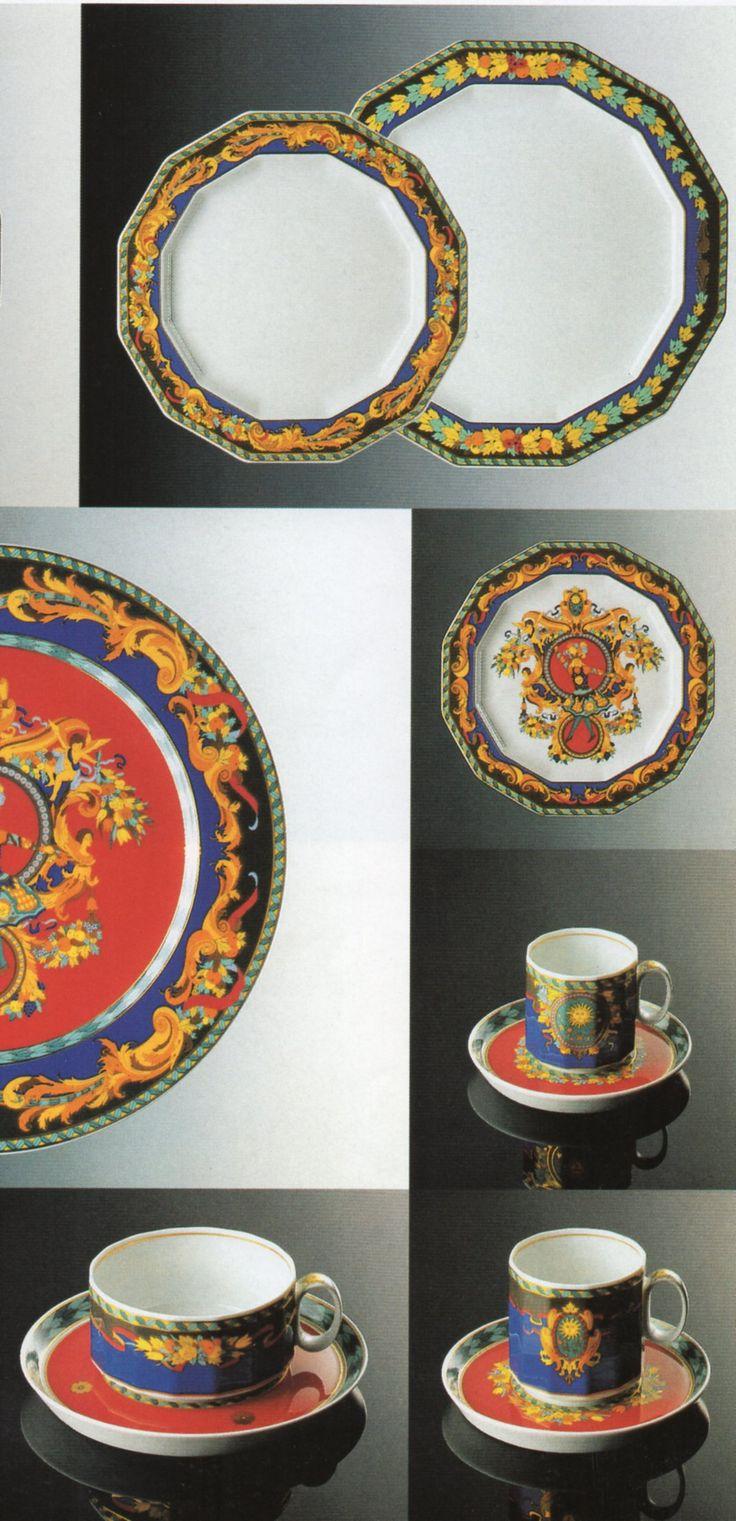 """Polygon""  (Le roi soleil) Tapio Wirkkala, Dekor: Gianni Versace (Erdinç Bakla archive)"