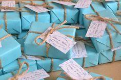 El Jabón Casero: Bodas en azul, detalles de invitados. Jabones hechos a mano.