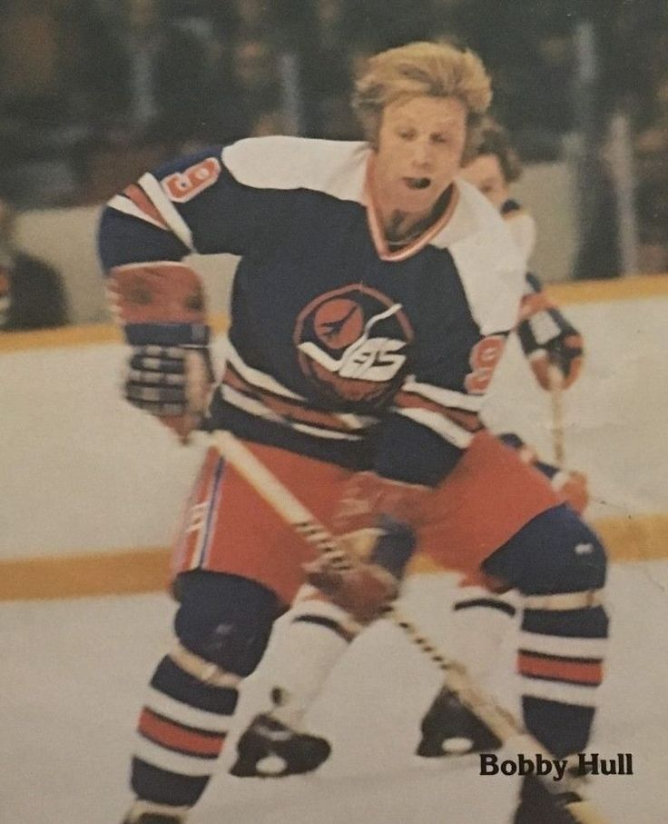 Bobby Hull in Jets colours, 1977-78 or 1978-79.