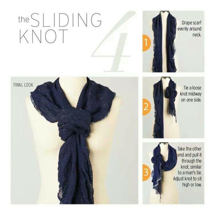 Scarves make statements. Sliding knot scarf.