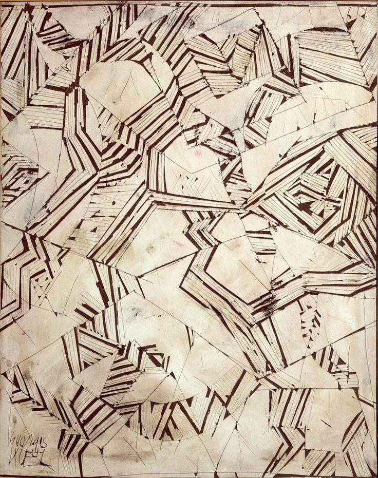 Georges Noël(French, 1924-2010)  Patchwork 1967  Technique mixte sur toile