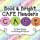 Are you implementing the Two Sisters CAFE system for teaching and assessing literacy?  You need these bright and bold posters and letters to spell out CAFE for your classroom CAFE board!