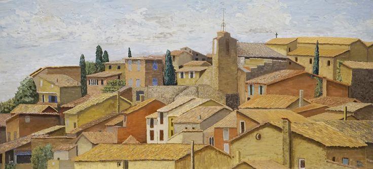 Roussillon, Luberon, oil painting   www.pieterbroertjes.nl/portfolio