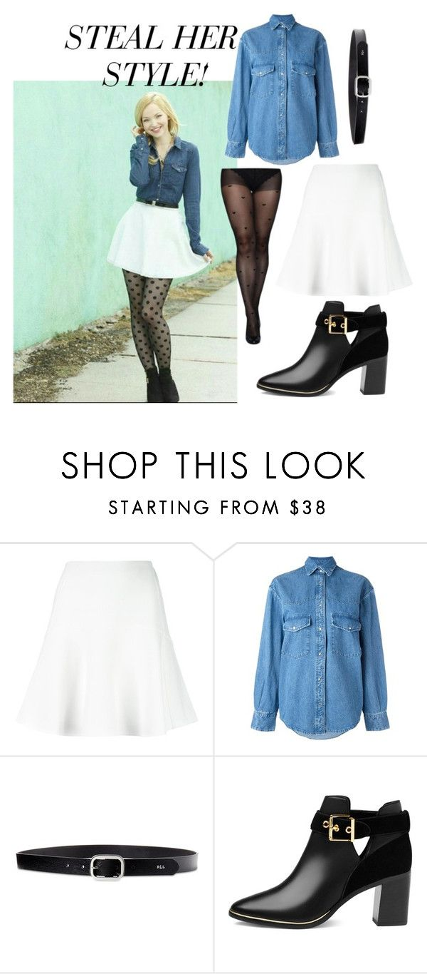 """""""Dove Cameron"""" by abby017 ❤ liked on Polyvore featuring Chloé, Golden Goose, Lauren Ralph Lauren and Ted Baker"""