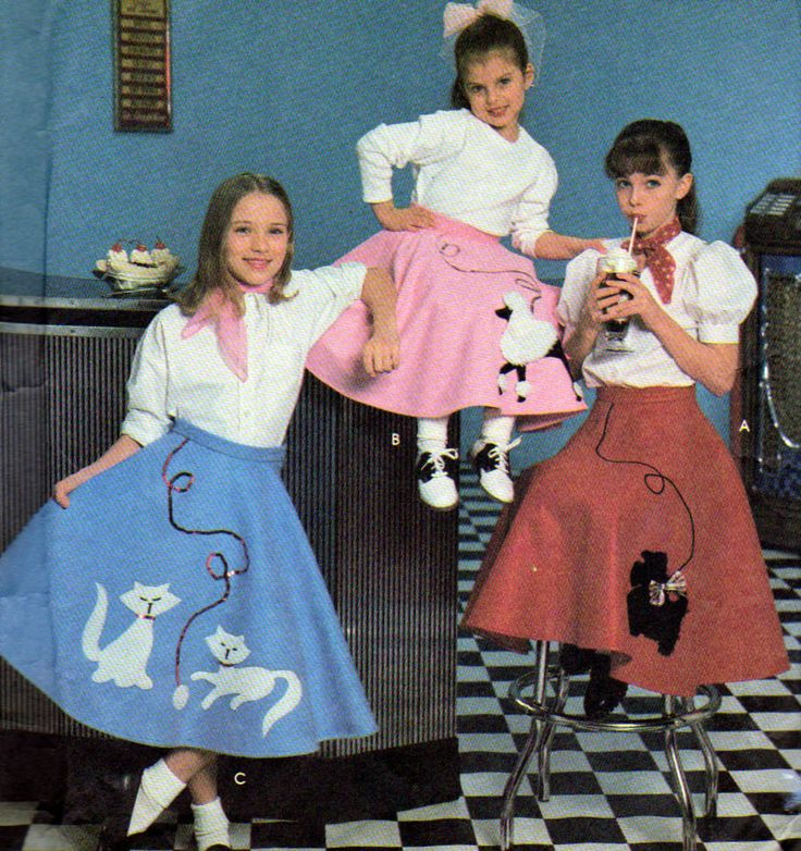 Poodle Skirt Scottie Dog And Kittens Playing With Yarn Costume Pattern Simplicity Girls Sizes 12 Vintage 1996 By OnceUponAnHeirloom On Etsy