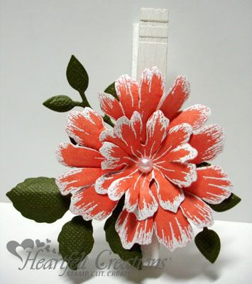 Heartfelt Creations | Orange Blooms Peg