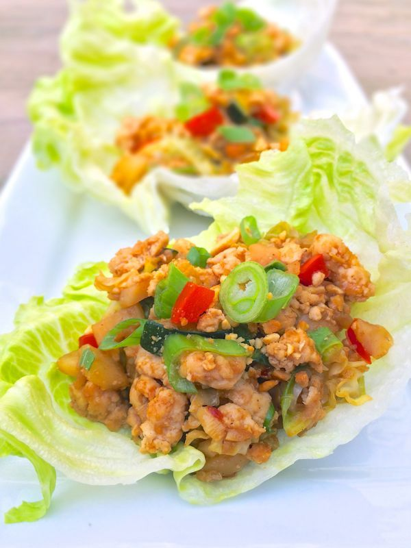 Chinese Chicken Lettuce CupsBowls Chicken, Bowls Glutenfree, Chicken Lettuce Cups, Glutenfree Lettucewraps, Chinese Chicken, Chicken Lettucewraps, Cups Recipe, Chicken Lettuce Wraps, Lemon Bowls
