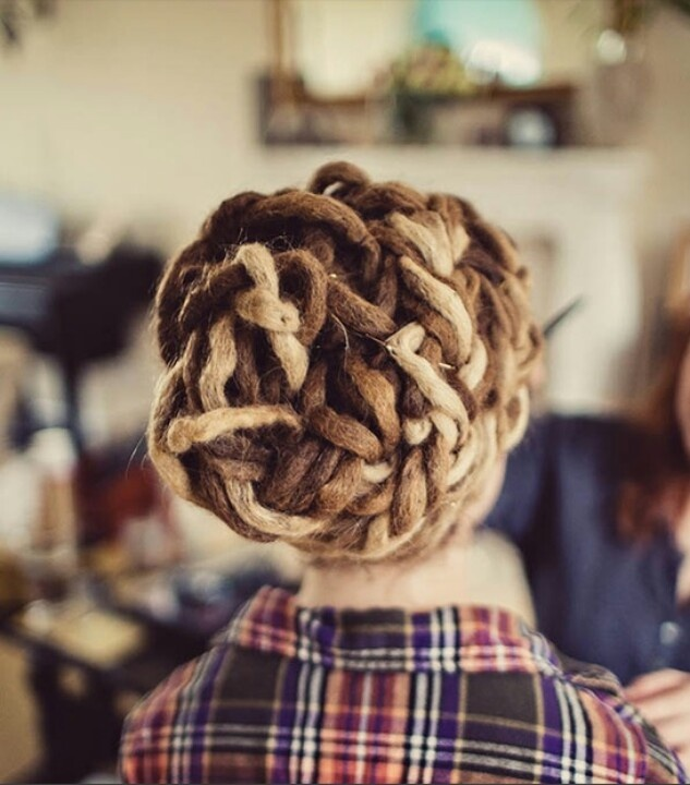 i can't wait till my dreads are long enough to do something like this.