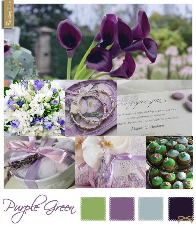Wedding Moodboard | Purple Green