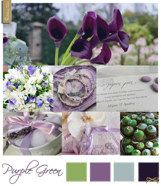Wedding Moodboard | Purple Green