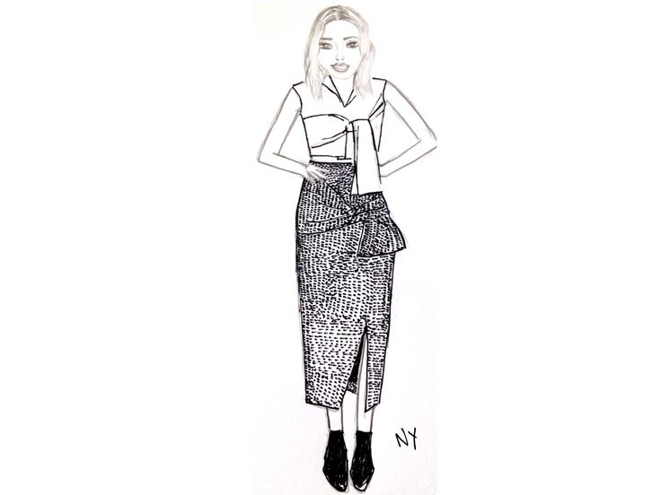 Whitney Port at the Portsea Polo outfit illustration