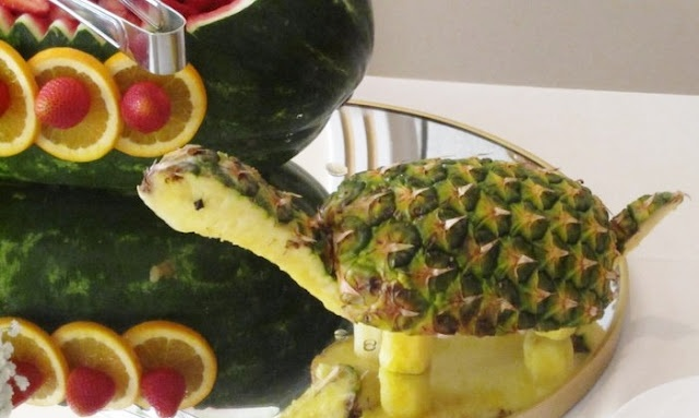Turtle Carved Pineapple Animal...so cute!