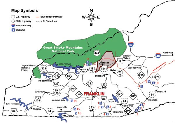 Waterfalls+Near+Franklin+North+Carolina | Waterfalls of Southwestern North Carolina near Franklin, NC