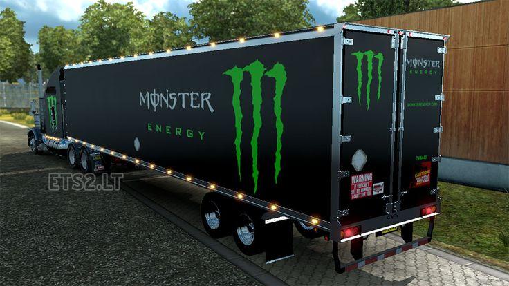 monster energy | DC-Monster Energy T800v2.1+American Trailer Combo Skin Pack 01 | Euro ...